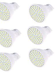 GU10 Spot LED MR16 80 diodes électroluminescentes SMD 2835 Décorative Blanc Chaud Blanc Froid 450lm 3000/6000K AC 100-240V