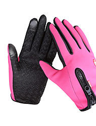 cheap -Bike Gloves / Cycling Gloves Ski Gloves Touch Gloves Men's Women's Full-finger Gloves Keep Warm Waterproof Windproof Anti-skidding Canvas