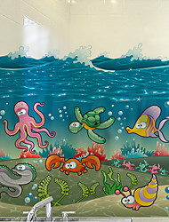 cheap -Window Film Window Decals Style Underwater World Matte PVC Window Film - (60 x 58)cm