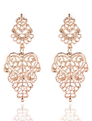 Hot Sale Fashion Jewelry Women Accessories Gold Plated Hollow Flower Dangle Earrings