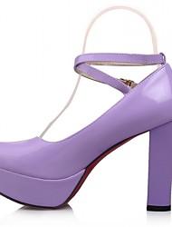 Черный Фиолетовый Белый-Женский-Свадьба Для офиса Для праздника Повседневный Для вечеринки / ужина-Синтетика Лакированная кожа Дерматин-