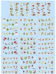 cheap -11 Designs Nail Art Christmas Stickers Santa Claus Trees Nail Beauty BLE906-916
