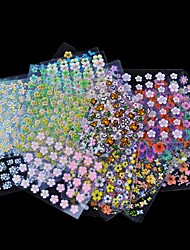 cheap -30 Sheet/Lot Floral Design Manicure Transfer Nail Art Tips Stickers Decals 3D Flowers Beauty Tickers For Nails