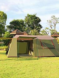 Недорогие -> 8 человек Световой тент Двойная Палатка Трехкомнатная Семейные палатки Хорошая вентиляция Ультрафиолетовая устойчивость