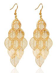 economico -orecchini pendenti in lega orecchini dorati matrimonio / festa 1 coppia stile elegante