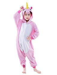 kigurumi Pyjamas Cheval volant Unicorn Collant/Combinaison Fête / Célébration Pyjamas Animale Halloween Rose Bleu Couleur Pleine Polaire