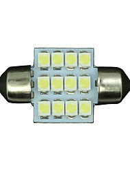 cheap -4 X PURE White 31MM 12SMD Festoon Dome Interior LED Light bulbs DE3175 3021 6428