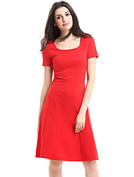 cheap -Women's Plus Size / Daily Street chic A Line Dress