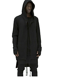 cheap -Men's Plus Size Long Hoodie Jacket - Solid