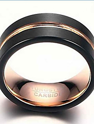 cheap -Ring Fashion Daily / Casual Jewelry Tungsten Steel Men Band Rings 1pc,7 / 8 / 9 / 10 / 11 / 12 Gold / Black