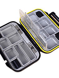 cheap -Anmuka Waterproof ABS Fishing Box 12 Compartments Outdoor Fishing Swivels Hook Lure Bait Tackle Box Tool Accessories