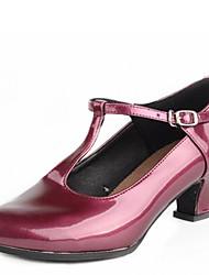 Damer Moderne Kunstlæder Hæle Udendørs Spænde Lave hæle Sølv Rosa Gylden 4 cm Kan ikke tilpasses