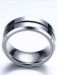 Ring Fashion Daily / Casual Jewelry Tungsten Steel Men Band Rings 1pc,7 / 8 / 9 / 10 / 11 / 12 Blue