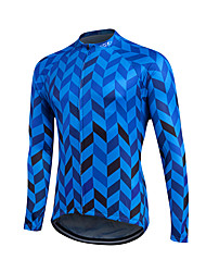 cheap -Fastcute Cycling Jersey Men's Women's Kid's Unisex Long Sleeves Bike Sweatshirt Jersey Top Quick Dry Front Zipper Breathable Soft YKK
