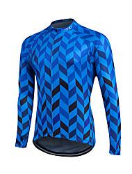 Fastcute Cycling Jersey Men's Women's Kid's Unisex Long Sleeves Bike Sweatshirt Jersey Top Quick Dry Front Zipper Breathable Soft YKK