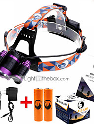 U'King ZQ-X826 Headlamps Headlamp Straps LED 9000ML Lumens 4 Mode Cree XM-L T6 2 x 18650 Batteries Adjustable Focus Rechargeable Compact