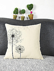 cheap -pcs Cotton/Linen Pillow Cover, Graphic Prints Casual