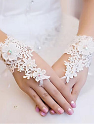 Wrist Length Fingerless Glove Lace Bridal Gloves Spring Summer Fall