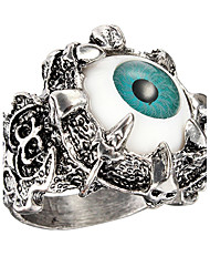 Punk Blue Evil Eye Dragon Claw Vintage Stainless Steel Ring Retro Men Ring Jewelry