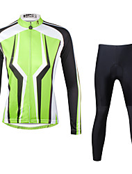 ILPALADINO Cycling Jersey with Tights Women's Long Sleeves Bike Clothing Suits Quick Dry Ultraviolet Resistant Breathable Compression