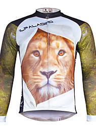 ILPALADINO Herre Langærmet Cykeltrøje Cykel Trøje, Hurtigtørrende, Ultraviolet Resistent, Åndbart, Refleksbånd