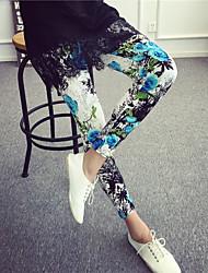 Damen Bedruckt Legging,Polyester