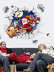 cheap -DIY Merry Christmas Wall Stickers Decoration Santa Claus Wall Stickers Removable Vinyl Wall Decals Xmas