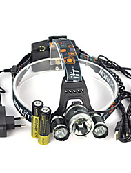 Headlamps Headlamp Straps Safety Lights LED 13000 Lumens 1 Mode Cree XM-L T6 Anglehead Super Light Suitable for Vehicles for
