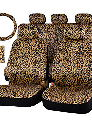 cheap -AUTOYOUTH Luxury Leopard Print Car Seat Cover and 15 Universal Steering Wheel Car Seat Protector