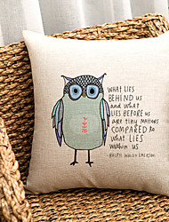 cheap -1 pcs Cotton/Linen Sofa Cushion Body Pillow Pillow Case, Animal Print Modern/Contemporary