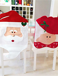 cheap -1 Pair Christmas Chair Covers Santa Claus New Year Decorations Xmas Ornaments Home Decor Hats Merry  Sale