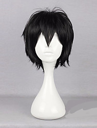 35cm Black Cospaly Wig  Male Haircut Short Layered Hairstyles Anime Kagerou Project Isogai Yuuma Hijikata Toshiro Wig