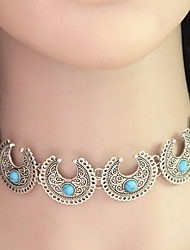 cheap -Women's Turquoise Choker Necklace  -  Personalized Vintage Folk Style Necklace For Wedding Party Daily