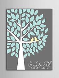 E-HOME®  Personalized Signature Canvas invisible Frame Print - A  Tree