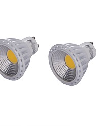 cheap -GU10 LED Spotlight MR16 1 COB 450 lm Warm White Cold White 3000/6000 K Dimmable Decorative AC 220-240 V