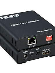 abordables -hdmi over Ethernet extender hdmi 120meter sur un rj45 cat5 câble / 6 de plus à plus d'extension de hdmi matrice 1080p avec ir