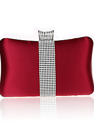 cheap -Women's Bags Polyester Evening Bag Acrylic Jewels for Wedding / Event / Party / Shopping Red / Wine / Almond