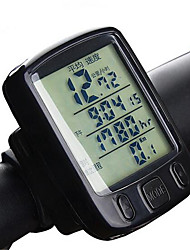 cheap -A234 Bike Computer/Bicycle Computer Backlight Temperature Instruments Non-Skid Odometer Av - Average Speed Dst - Trip Distance