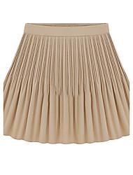 Women's Solid Blue / Beige / Black SkirtsSimple Mini