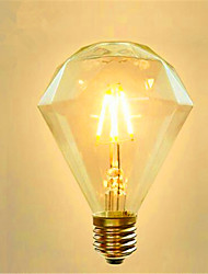cheap -1PC 4W E27 LED Filament Bulbs G95 4leds COB Dimmable Warm White 300-350lm AC 220-240V