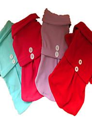 baratos -Cachorro Vestidos Roupas para Cães Sólido Roxo Rosa Vermelho Azul Claro Lã Polar Ocasiões Especiais Para animais de estimação Homens