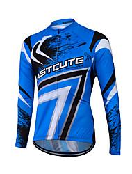 Fastcute Maglia da ciclismo Per uomo Per donna Unisex Manica lunga Bicicletta Felpa Maglietta/Maglia Top Asciugatura rapida Zip anteriore