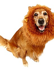 cheap -Pet Costume Lion Mane Wig for Dog Cat Halloween Clothes with Ear Clothes for dogs for cats Goods for pets