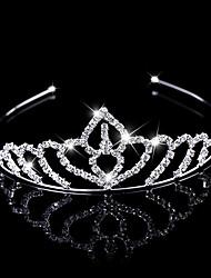 The New Fashion Crown Head Wreath Head Dress Rhinestone Flower Shape