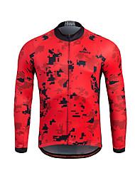 Miloto Maglia da ciclismo Per uomo Manica lunga Bicicletta Felpa Maglietta/Maglia Top Tenere al caldo Asciugatura rapida Zip anteriore