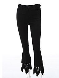 cheap -Women's Vintage Bootcut Jeans Pants - Solid Colored
