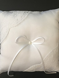 White 1 Ribbons Faux Pearl Satin Lace