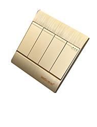 baratos -quatro interruptor de parede duplo controlo aberta