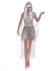 economico -Strega Costumi Cosplay Vestito da Serata Elegante Donna Halloween Feste / vacanze Costumi Halloween Grigio Tinta unita