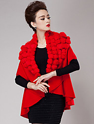 cheap -Short Sleeves Cashmere Wedding Party Evening Casual Women's Wrap With Feathers / fur Coats / Jackets